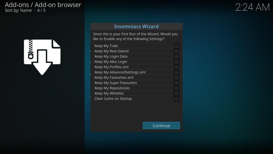 install insomniacs wizard