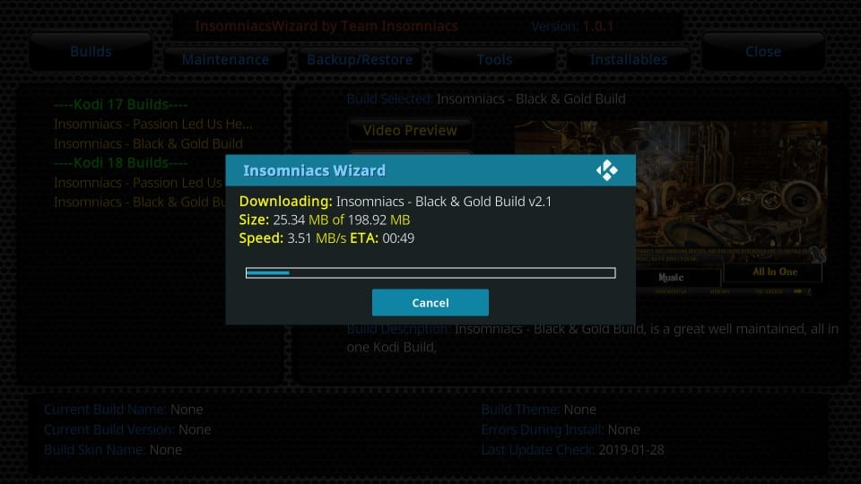 insomniacs kodi builds black and gold