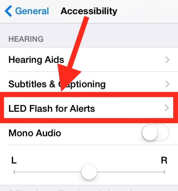 Flash LED for alerts on iPhone