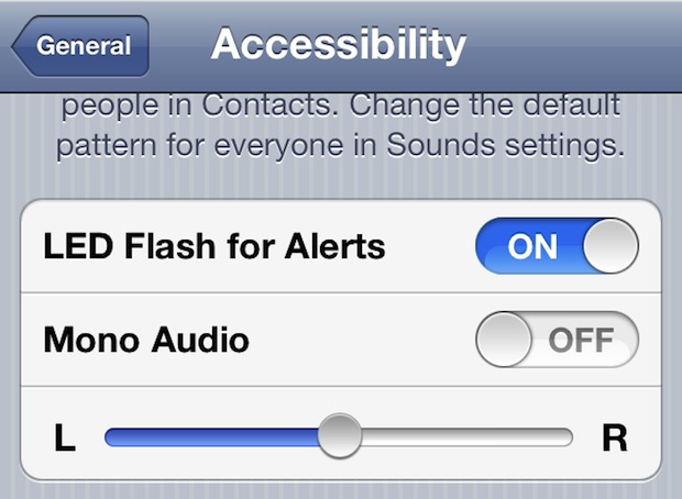 Flash the iPhones camera LED light for incoming calls or messages