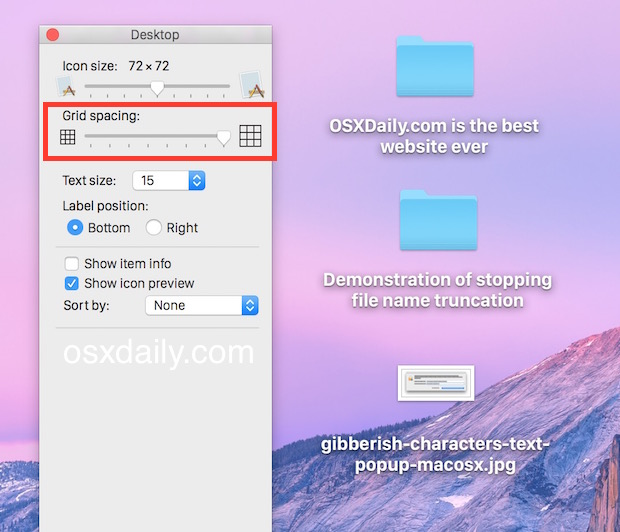 Stop folder and file name truncation in Mac OS X.