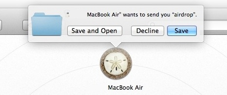 Save AirDrop file transfer