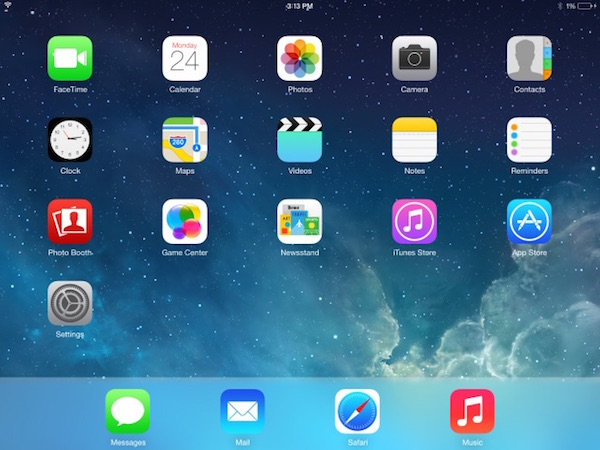 Example of an iPad screenshot