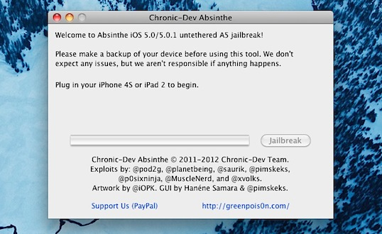 Jailbreak the iPhone 4S with Absinthe