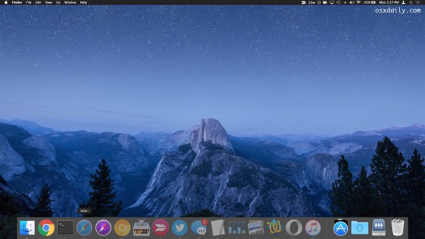 Hide and minimize all Mac windows