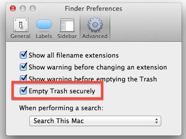 Always use a safe, empty trash can