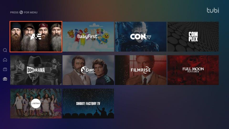 tubi TV download on Firestick