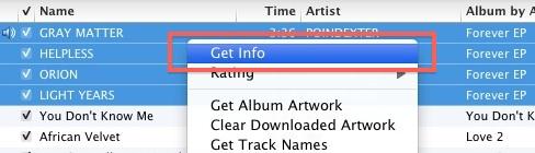Get information in iTunes