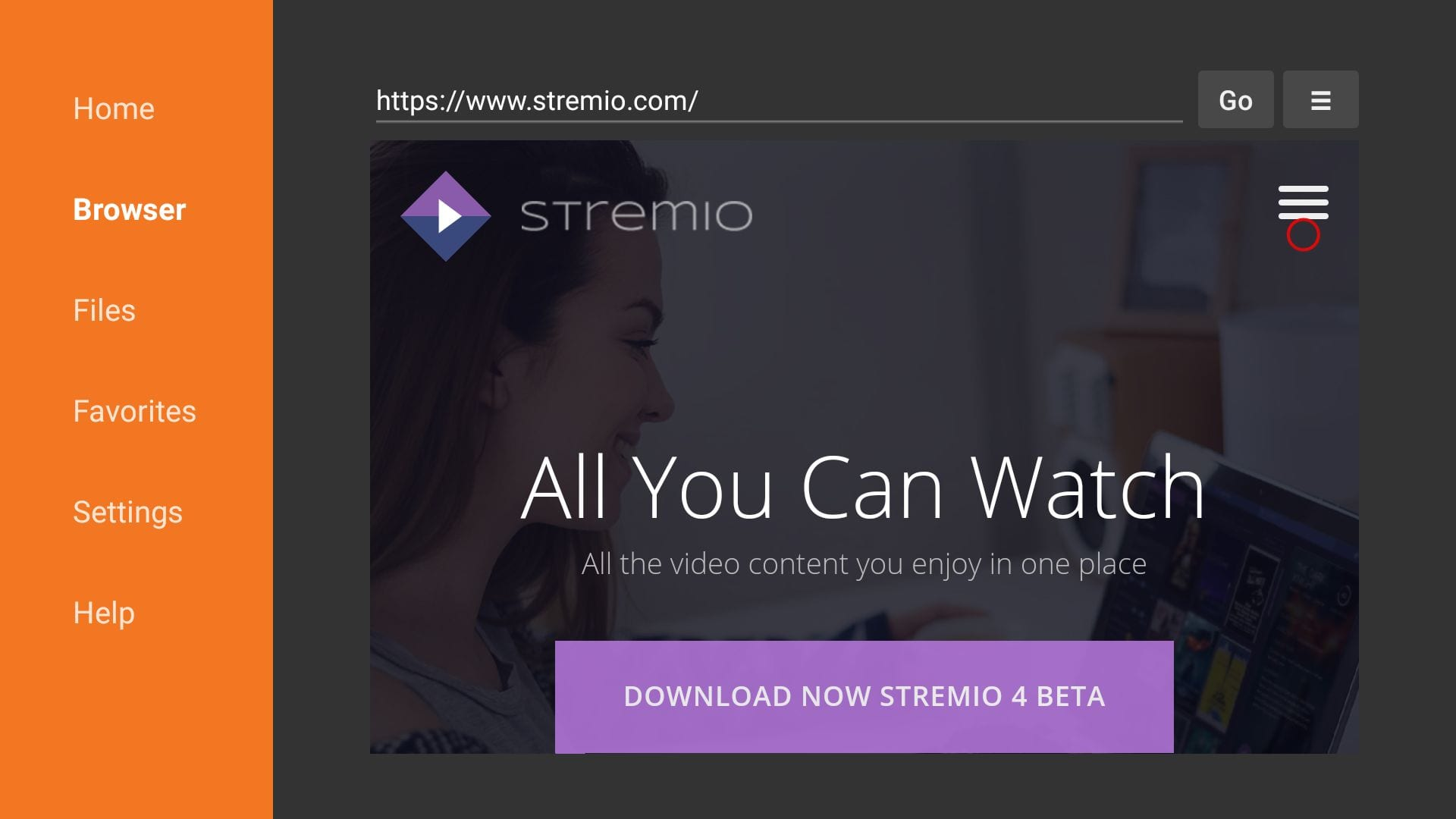 steps to install stremio on firestick
