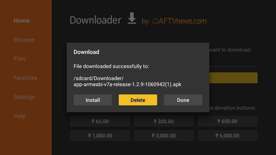 stremio app on Android TV