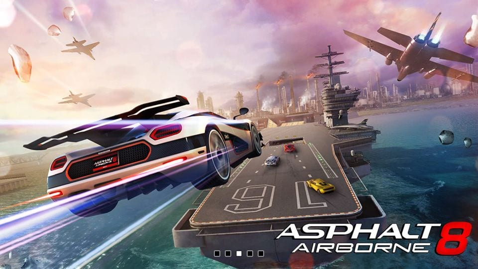 asphalt 8 game on fire TV