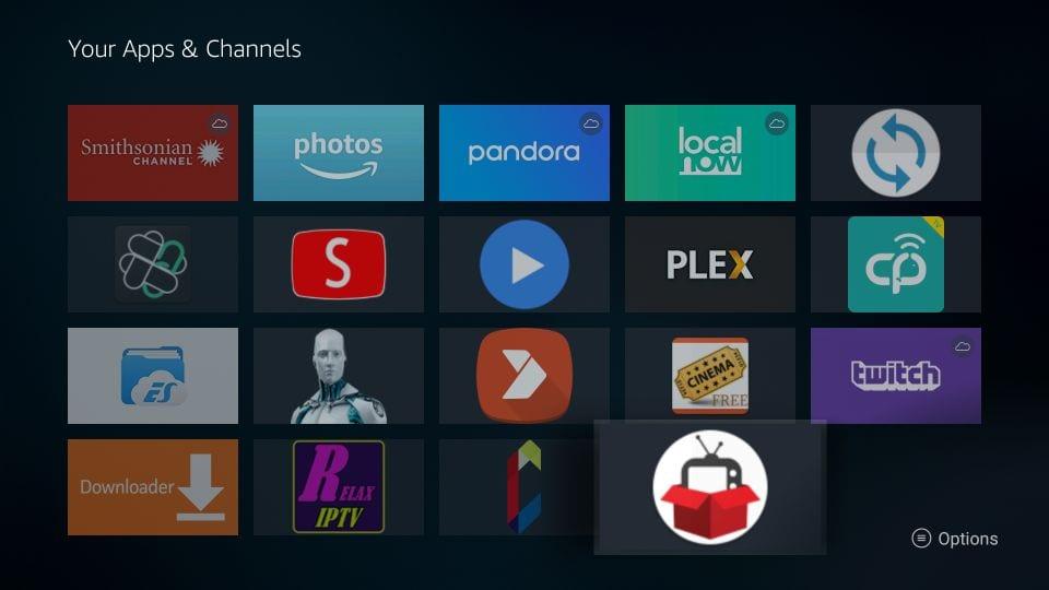 download redbox TV apk on fire stick