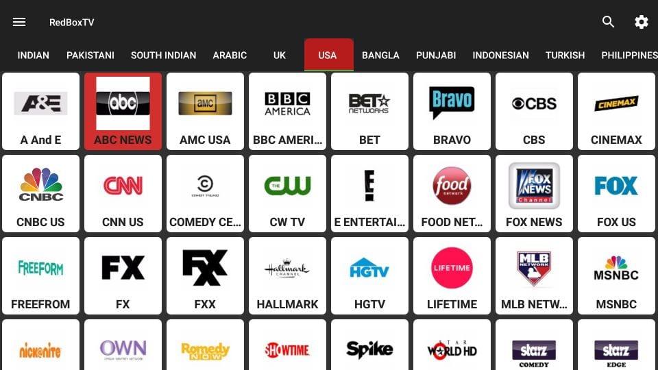 redbox TV app on firestick