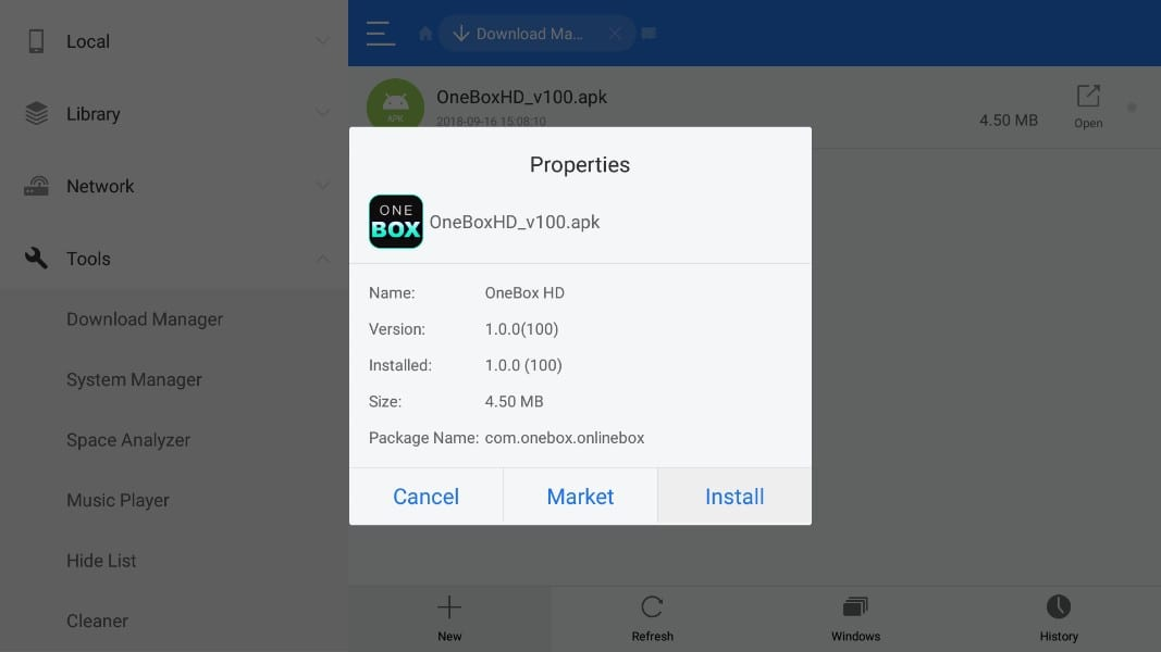 how to    download onebox hd on firestick