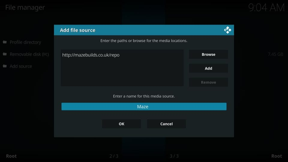 How to    installing the maze builds on kodi