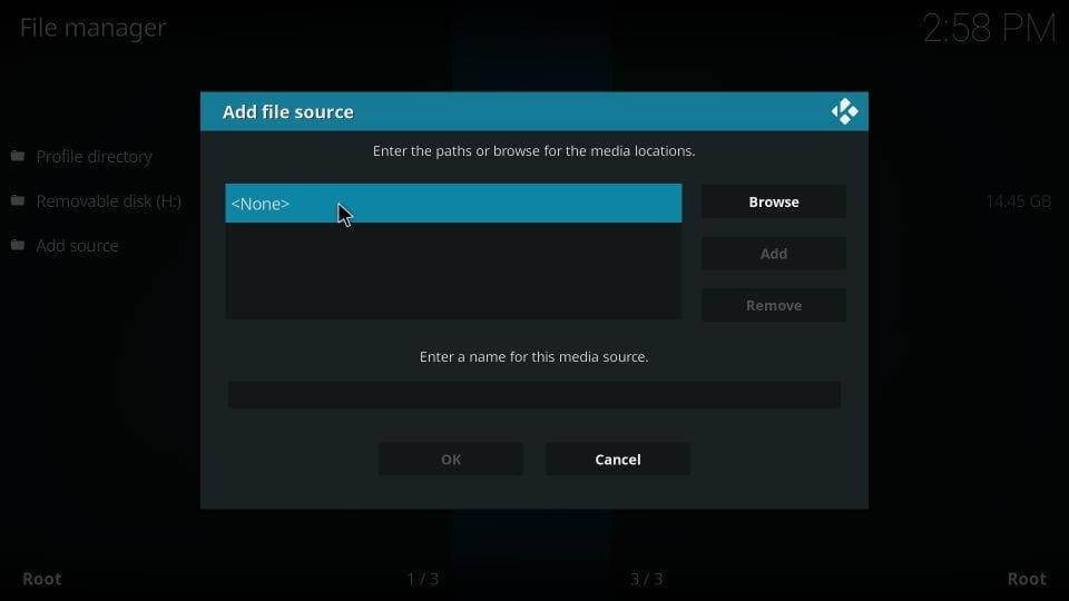 add file source on kodi