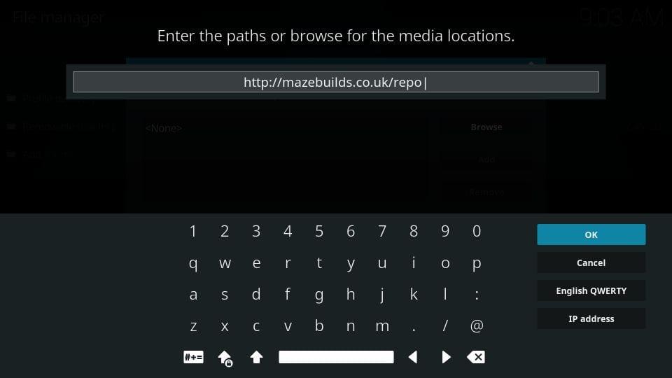 Maze build repository url