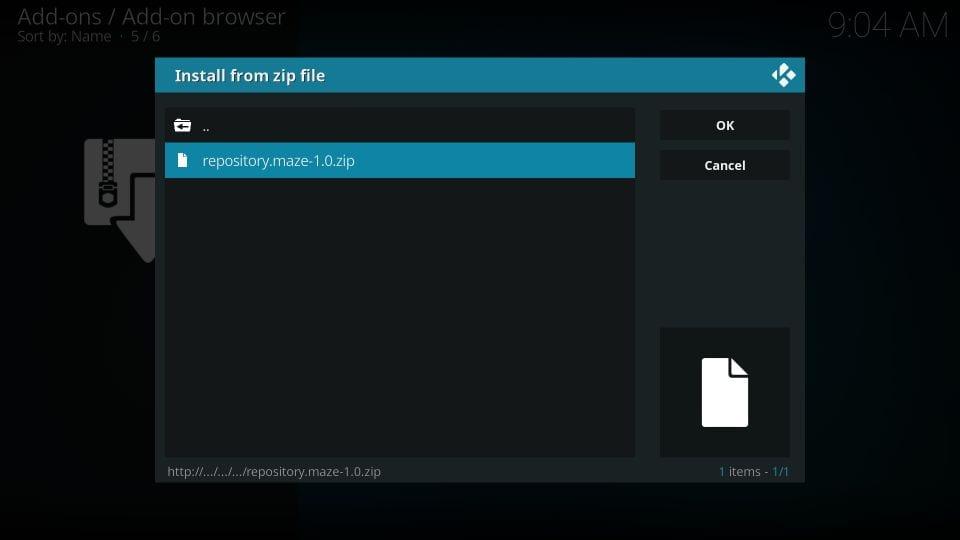 install maze repository