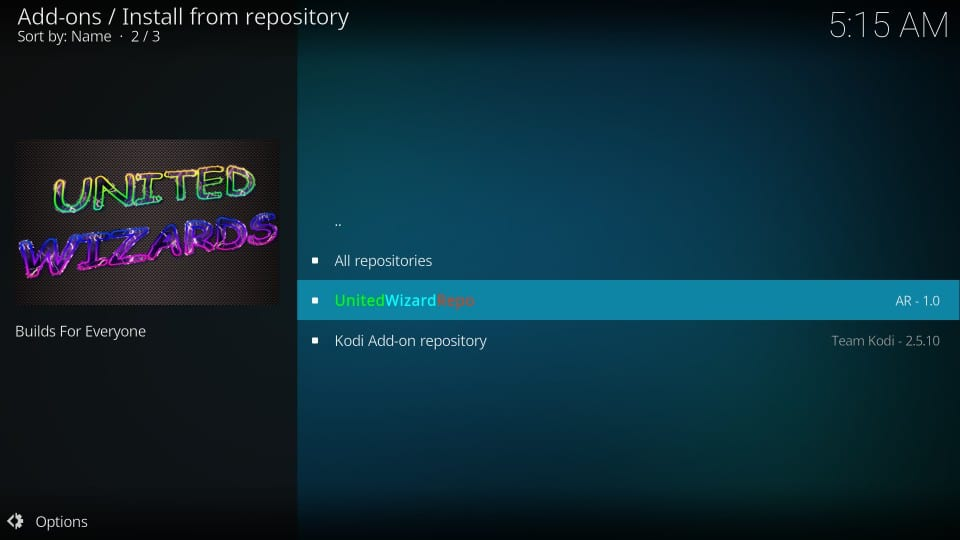 Install the arch kodi builds