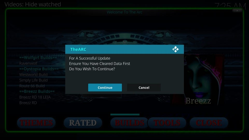 how to    installation arch builds on kodi