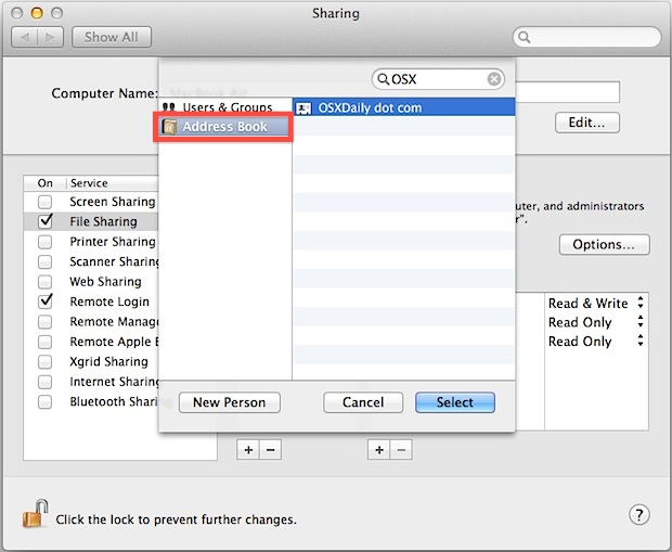 Share files on Mac without creating a new user account with Apple ID