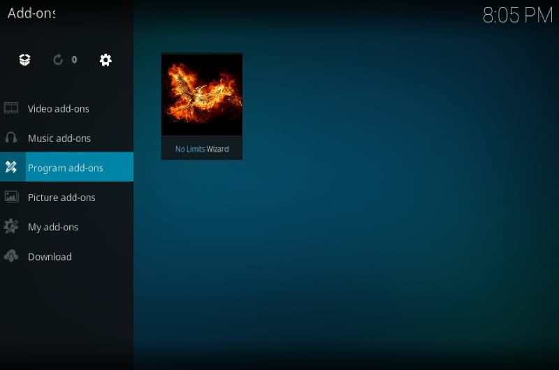 kodi no borders program addons