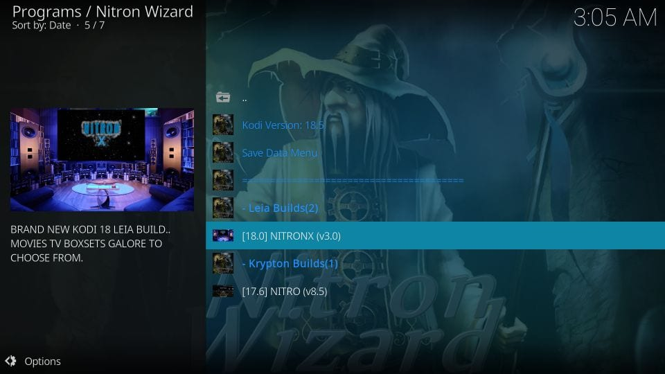 Build Nitronx kodi