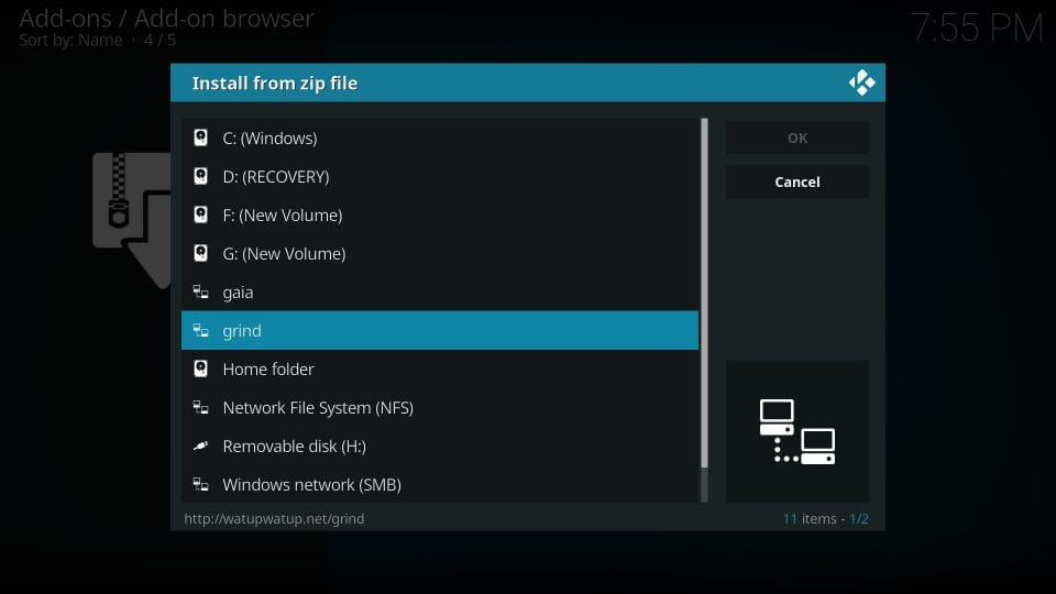 download the gravel build on kodi