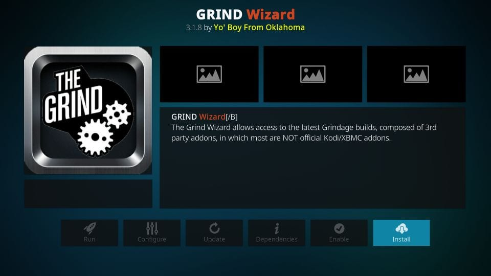 steps to install the gravel kodi build wizard