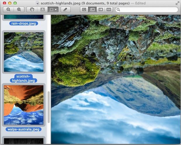 Batch rotate a group of images with Preview for Mac OS X
