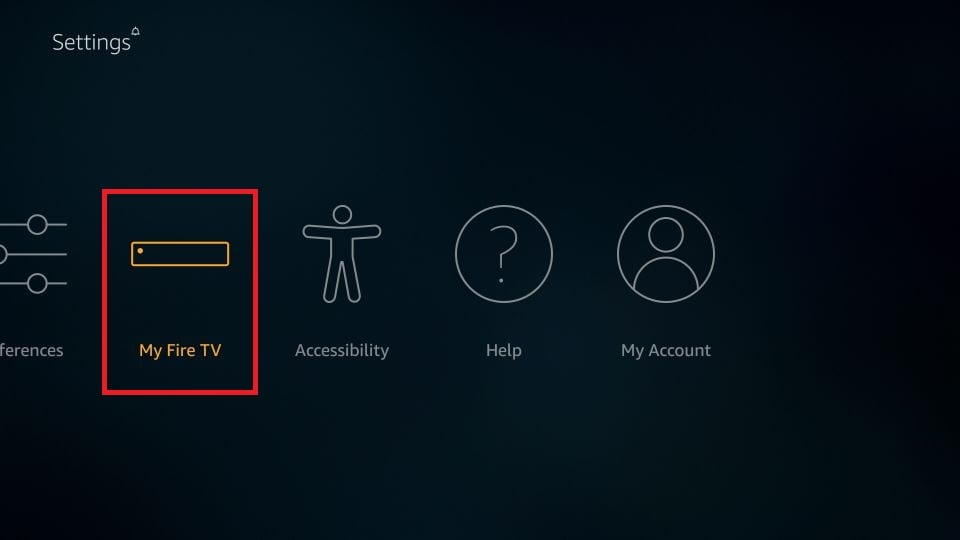 my fire TV settings