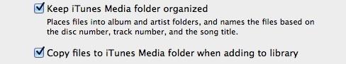 Let iTunes manage music