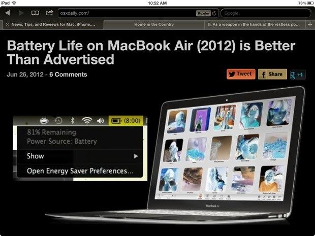 White on black mode inverts the iPad screen
