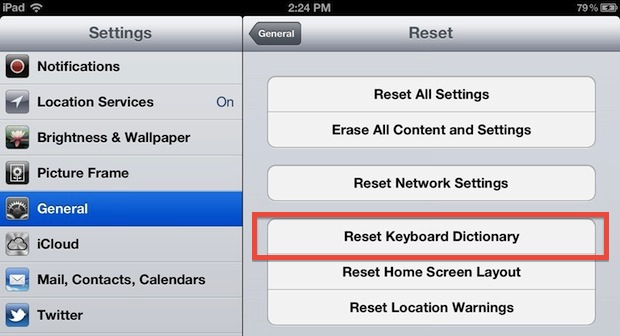 Reset Autocorrect dictionary in iOS to fix incorrect word corrections on iPhone and iPad