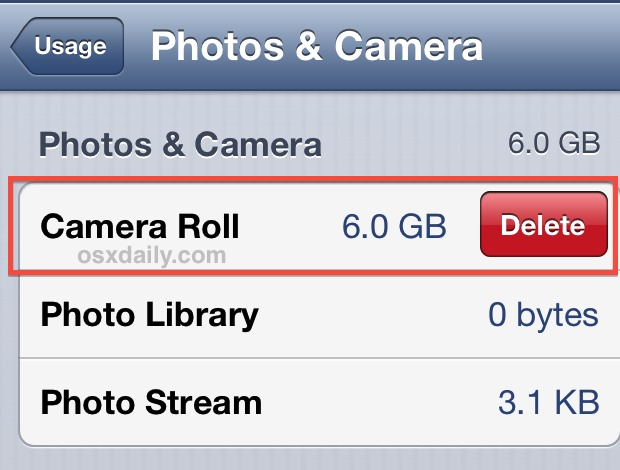 Delete all photos from iPhone directly
