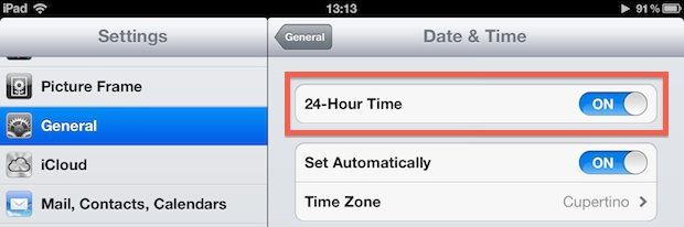 Use 24-hour time on iPhone and iPad