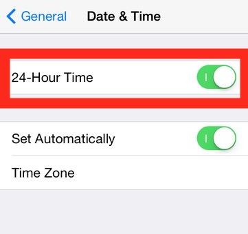 How to    set 24 hour time on iPhone and iPad clock