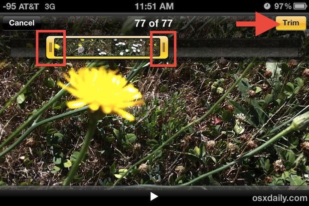 Trim video directly on iPhone
