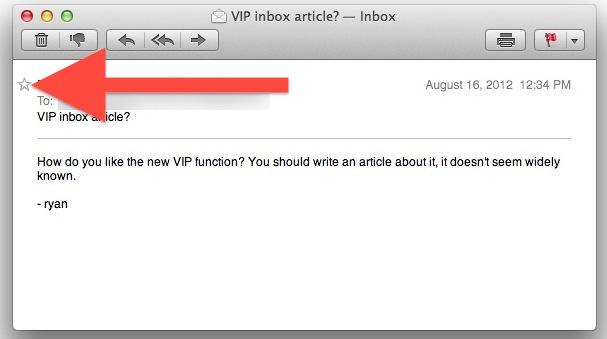 Mark a sender as VIP