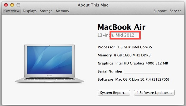 Find out when a Mac was created