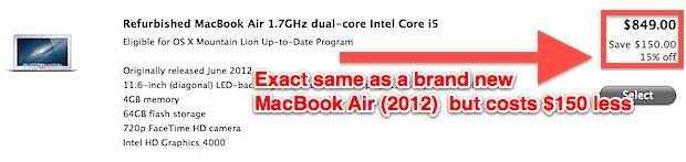 Discount on refurbished Macs, even the latest new Mac models