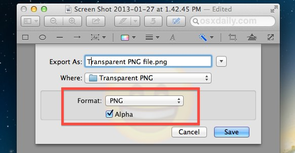 Create a transparent PNG