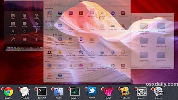 Task Board multi-taskbar in Mac OS X