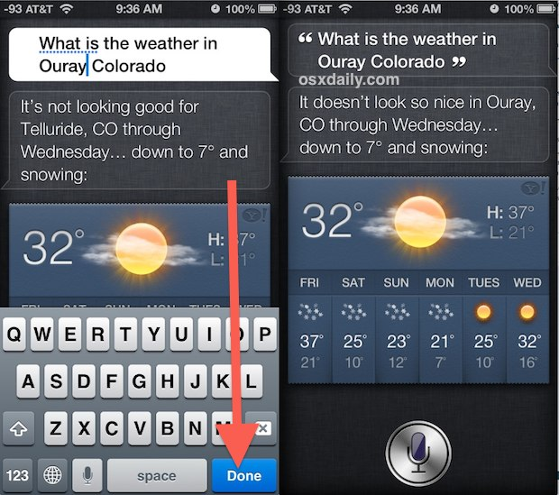 Edit the Siri command and search again