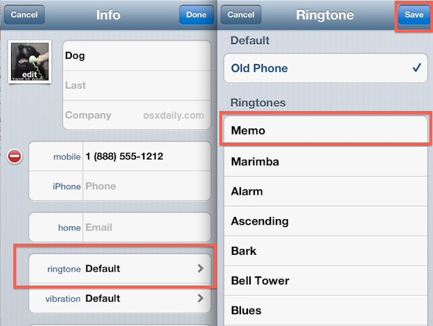 Assign custom voice recording as ringtone on iPhone