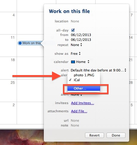 Open a file on a fixed date