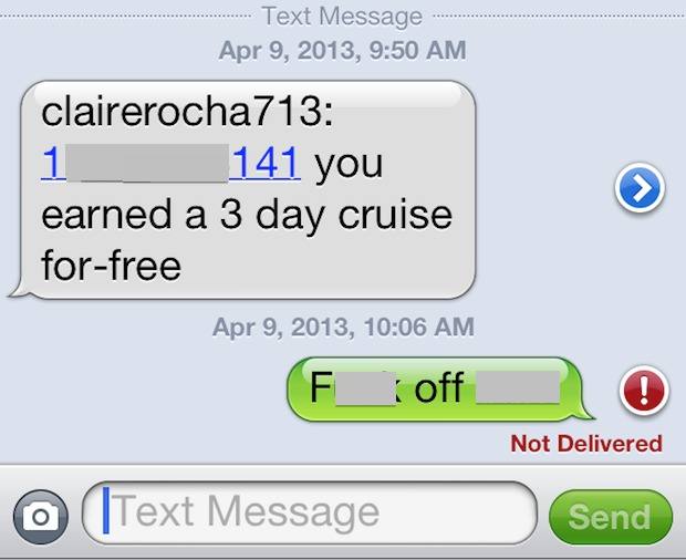 SMS spam on the iPhone