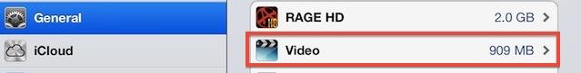 Check video storage