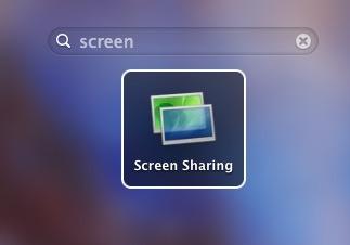 Screen sharing app shortcut created in Mac OS X