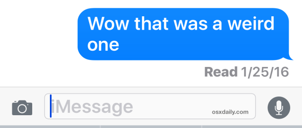 Read receipts in Messages for iOS
